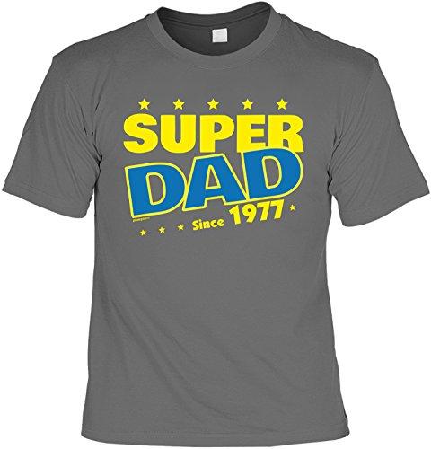 T-Shirt - Super Dad Since 1977 - lustiges Sprüche Shirt als Geschenk zum 40. Geburtstag