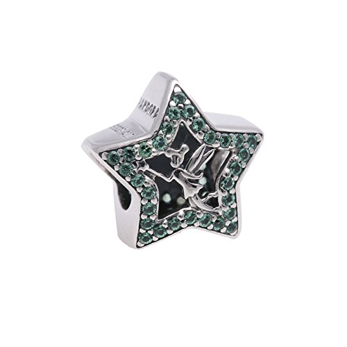 PANDORA Disney Tinker Bell Star Green Crystal Charm 2016 Spring Collection 791920NPG
