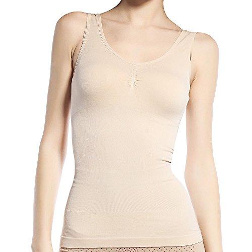 Insasta Women Slimming Tank Top Tummy Control Seamless Vest Cami Shaper Body Shape Wear-Size-L