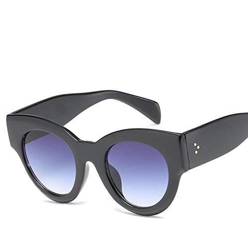 sol de Europea grande A Aoligei gafas el de señora moda de Sungla personalidad de gato Comunidad de las Marea marco retros de calle gafas sol ojo americana de y clap hombre ttqpYOw