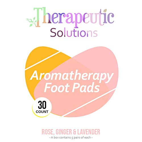Therapeutic Solutions Aromatherapy Foot Pads – 30 Count – Rose Lavender Ginger – Natural Full Body Cleanse – Premium Foot Care – Sleep Better, Improve Energy, Relieve Pain from Therapeutic Solutions