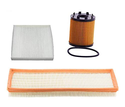 - 100% New Air Filter Cabin Filter & Oil Filter for 12-17 NON Turbo Fiat 500 1.4L 3 Pcs