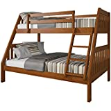 Acme Furniture Ryo Bunk Bed, Oak, Twin over Full