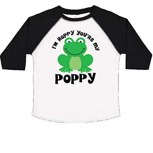 inktastic - Poppy Grandpa Gift for Toddler T-Shirt 3T White and Black 22db1