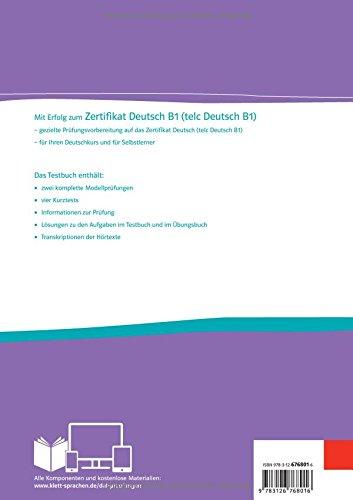 Mit Erfolg Zum Zertifikat Deutsch Telc Deutsch B1 Testbuch Audio