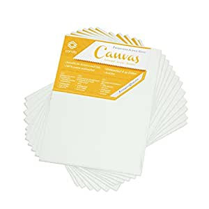 CONDA 8×10 inch Canvas Panels Pack of 12 Artist Quality Acid Free Canvas Board