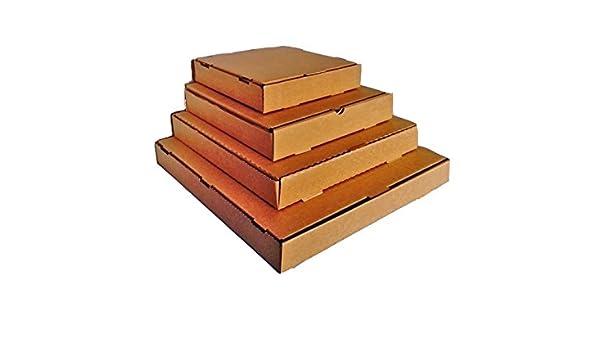 50 cajas postales con forma de caja de pizza (marrón) 14