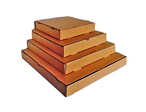 Boxes2Go Lot de 25boîtes postales style cartons à pizza Marron 10'