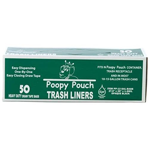 CROWN PRODUCTS GIDDS-136807 Poopy Pouch 13 gallon Trash Bags For Pet Waste Station Receptacles]()