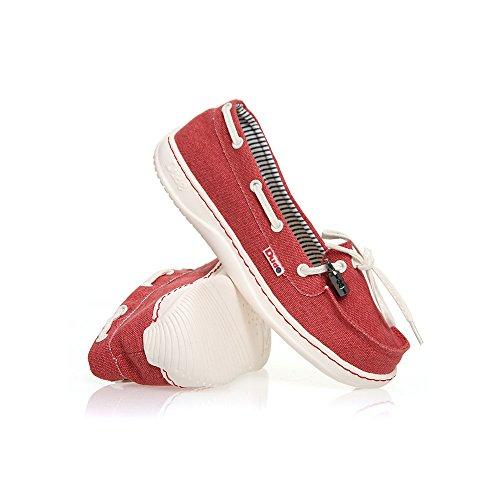 Hey Reds Dude Stonewash Canvas Moka Red rBqrnxwp06