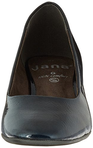 Jana Women's 22302 Closed Toe Heels Blue (Navy Met. Pat. 801) T8nyz