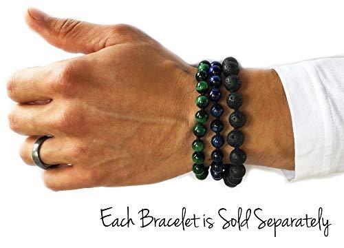 MeruBeads Premium Mala Adjustable Tiger's Eye Green - Bracelet Bead Mantra