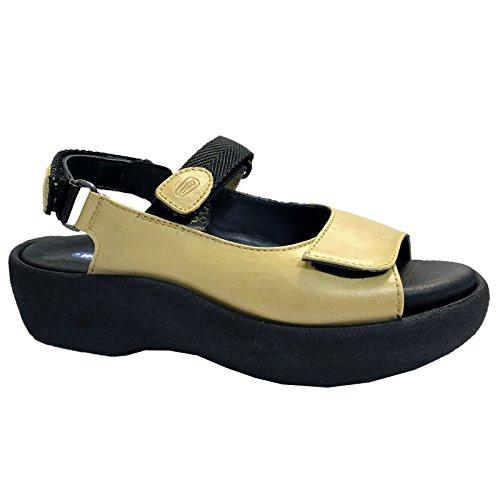 Wolky Womens Jewel Yellow Leather Sandals 39 EU Wolky Jewel