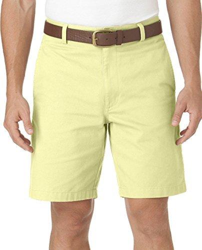 Chaps Mens Washed Twill Chino Flat Front Shorts (42, May ()