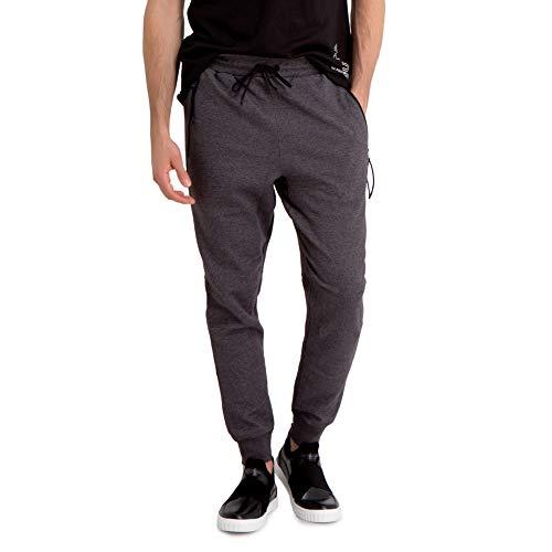 U.S. Polo Assn. Men's Cotton Fleece Modal Jogger Sweatpants Dark Gray L ()