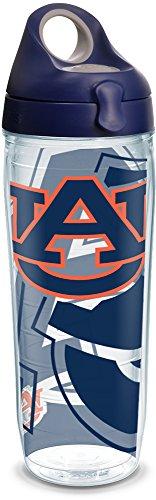 - Tervis 1289317 NCAA Auburn Tigers Water Bottle, 24 oz, Clear