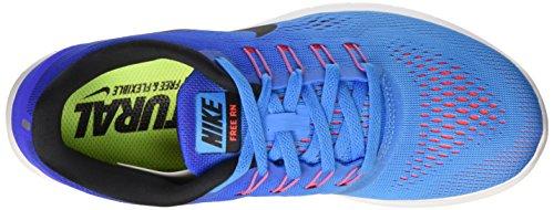 Azul de Black Mujer Gimnasia Rn Racer Glow para Wmns Nike Zapatillas Free Blue Blue qwP68IIR