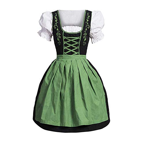 Beyond_AV Lolita Sexy Maid Lingerie Uniform Dress Fantasias Femininas Halloween Cosplay Costumes for Women 5XL (Green, M) -