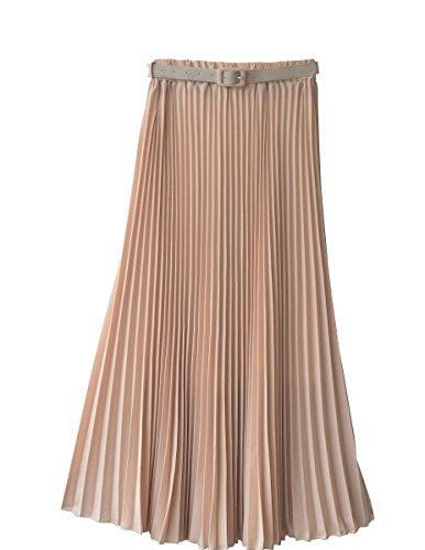 Womens Pleated Retro Maxi Skirt product image