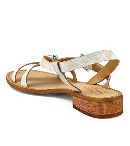 Latigo Risha Sandals M LA10775 Size White Crinkle Women's 9 URRqwO4