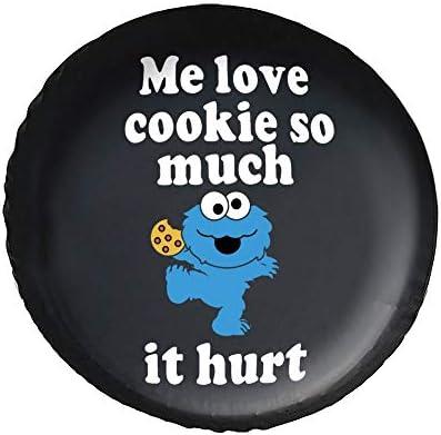 クッキーモンスター Cookie タイヤカバー タイヤ保管カバー 収納 防水 雨よけカバー 普通車・ミニバン用 防塵 保管 保存 日焼け止め 径83cm