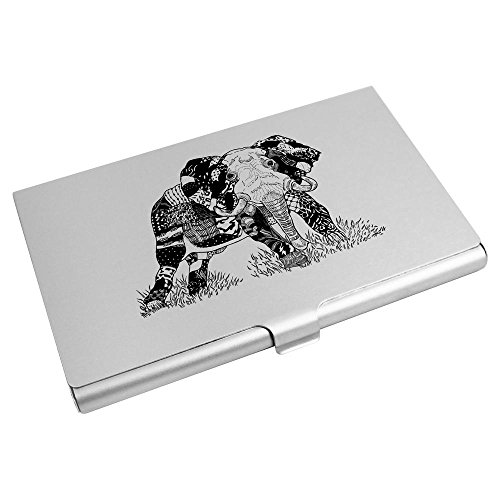 CH00006654 Azeeda Business Holder Card 'Patterned Credit Elephant' Wallet Card OOAxPFqw