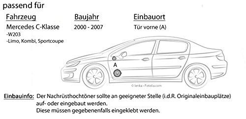 Mercedes Clase C W203 frontal - JBL gx600 C | de 2 Vías | 16 cm sistema de altavoces - Empotrable Set: Amazon.es: Electrónica
