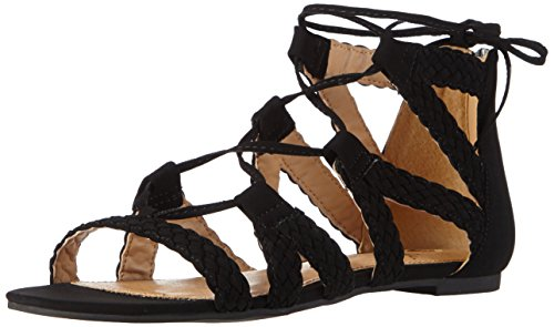 Leather Black Black Sandal Noir La Ouvertes 2201 Sandales Femme Suede Look Strada Schwarz Micro tpaBBwqA