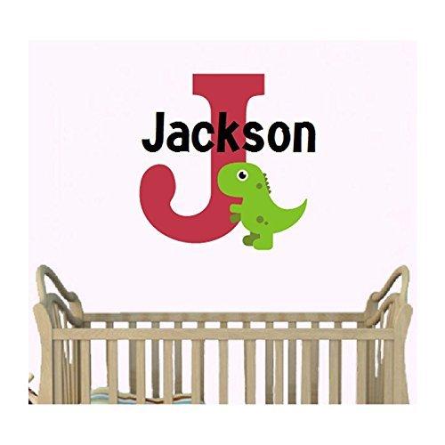 Amazoncom Dinosaur Monogram Premium Personalized Vinyl Wall - Custom vinyl wall decals dinosaur