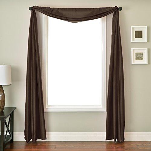 Softline Home Fashions NETHchoSC Bella 6 Yard Window Scarf, Chocolate ()