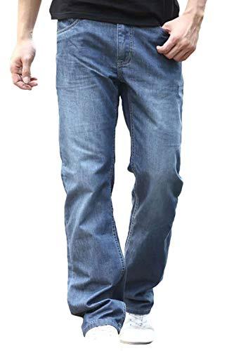 Pantalones Vaqueros Rectos De Los Hombres Pantalones Vaqueros Skinny Rectos Flojos De Palazzo Pantalones Vaqueros Retros De La Moda De Los Pantalones Vaqueros Qblue