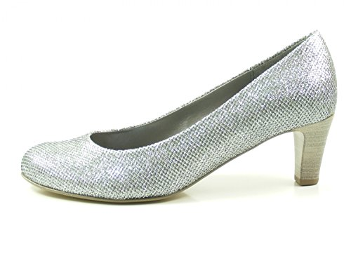 Gabor 85-200-63 Dames Chaussures Argent Glamour Pompes Large Argent F