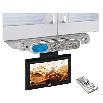 amazon com gpx kcld8887dt under cabinet tv dvd combo with cable