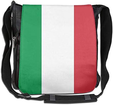 ショルダーバッグ リュックイタリア国旗 斜めがけバッグ 2way デイバック ボディーバッグ 大容量 パック 通勤 旅行 軽量 Black