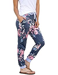 Women's Casual Comfy Soft Stretch Floral Print Lounge Pants (by