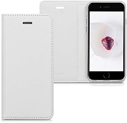 kwmobile Funda para Apple iPhone 6 / 6S - Carcasa para móvil de [Cuero sintético] - Case [Plegable] en [Blanco]
