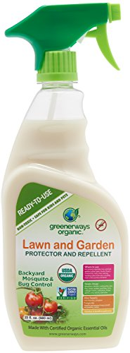 GREENERWAYS ORGANIC Insecticide Mosquito Repellent, Outdoor Backyard Repellent Natural Insect Killer, Spray Insecticide, Large Insecticide, USDA Organic Non-GMO Repellant - 23 OZ, MSRP $23.98 (Insect Wasp Killer)