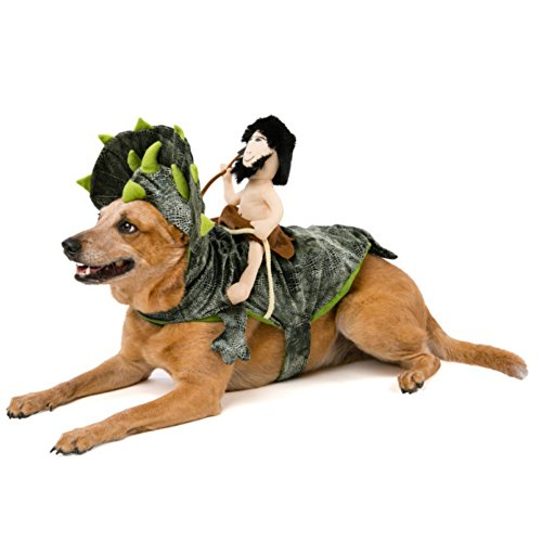 [Top Paw Halloween Dino Caveman Rider Costume S/M] (Dino Costumes For Dogs)