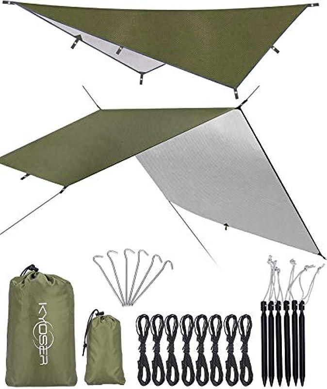 KYOSER 캠핑 방수 텐트 타프 UV차단 2-6인용