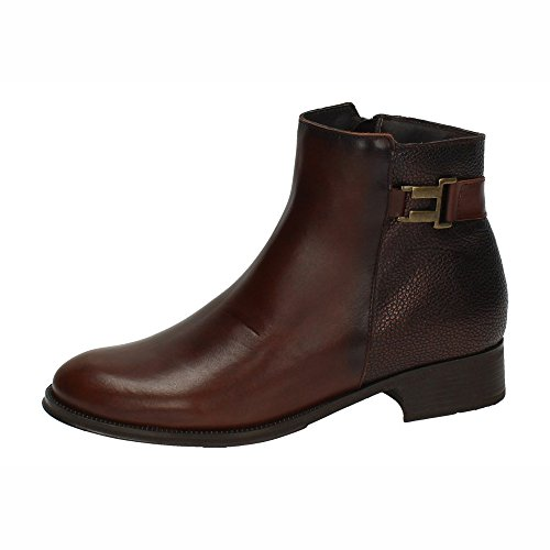MADE IN SPAIN ,  Damen Kurzschaft Stiefel Braun