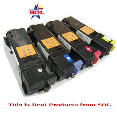 B, C, M, Y (2,000 pages) High Yield Compatible Dell 1320c Color Laser Toner Cartridges Comb (New Chip installed), Office Central
