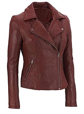 SleekHides Women's Fashion Brando Real Leather Stylish Quality Jacket