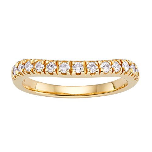 Forever Classic Yellow Gold 1.8mm Moissanite Wedding Band - size 6, 0.33cttw DEW By Charles & Colvard by Charles & Colvard (Image #7)