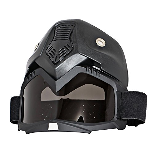 Triclicks Modular Motorcycle Riding Helmet Open Face Mask Shield Goggles Detachable by Triclicks (Image #2)