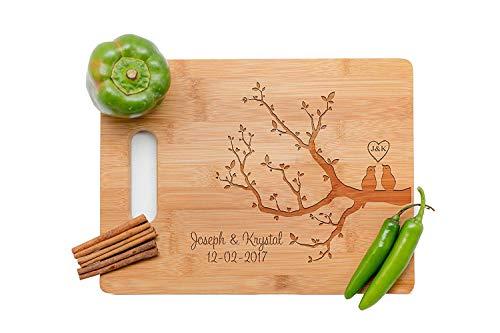 (love tree Personalized Cutting Board, Wedding Gift, Laser engraved cutting board,Wedding Gift for couple, Kitchen decor)