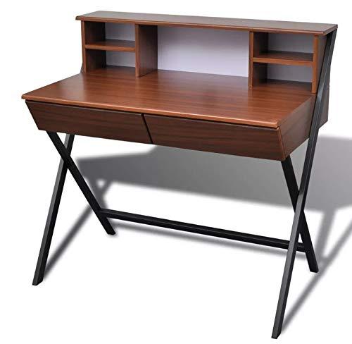 Escritorio vintage para ordenador de escritorio, mesa de ordenador ...