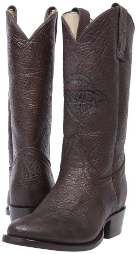 NFL San Diego Chargers Men's Traditional Toe Western Boot, Brown, 8.5 by Old Pro Leathers