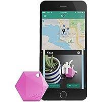 XY4+ Bluetooth Key Finder, localizzatore Chiavi Bluetooth, Localizzatore di oggetti, Tracker Bluetooth, Portafoglio Telefono (Rosa)