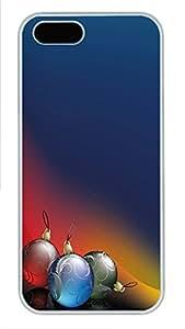 iPhone 5 5S Case Three Christmas Balls PC Custom iPhone 5 5S Case Cover White