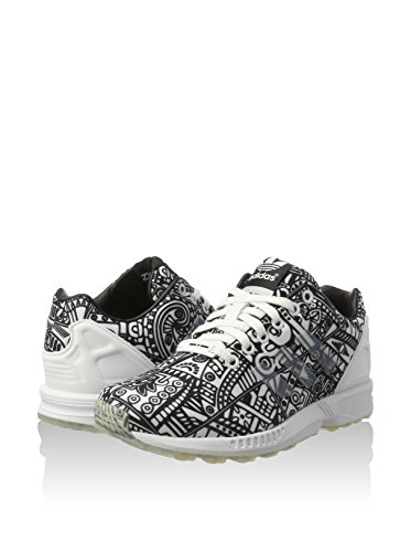 Sneaker Flux Bianco Unisex Adulto Adidas Zx nero wHxCqOfWT1